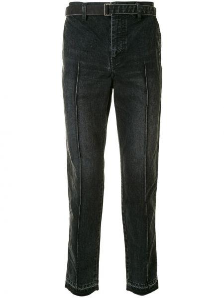 Niebieskie jeansy bawełniane Sacai