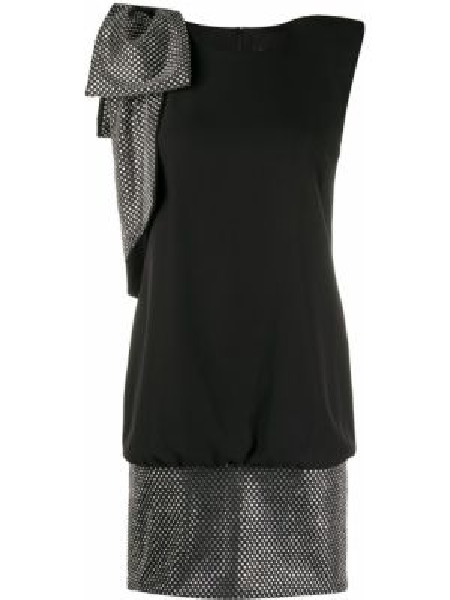 Коктейльное платье черное с рукавами John Richmond