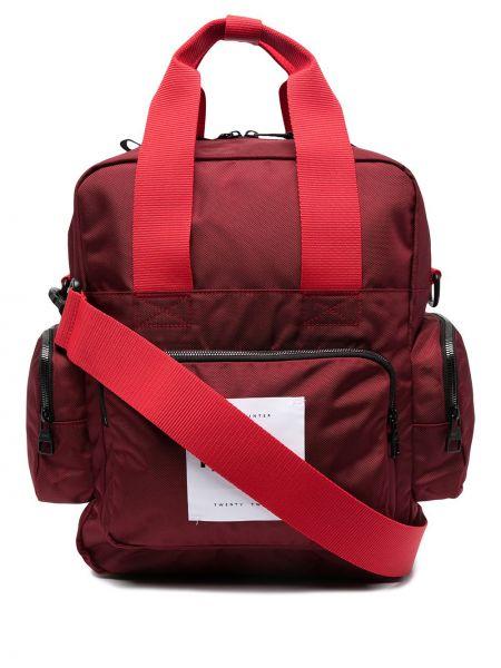 Czerwona torebka pikowana bawełniana Reebok X Victoria Beckham