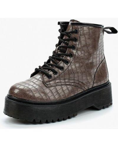 Кожаные ботинки осенние коричневые Martin Pescatore
