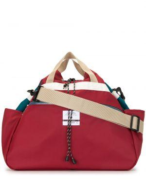 Красная нейлоновая сумка на плечо с завязками с карманами As2ov