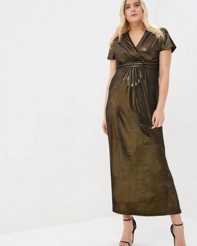 Вечернее платье осеннее золотой Sparada