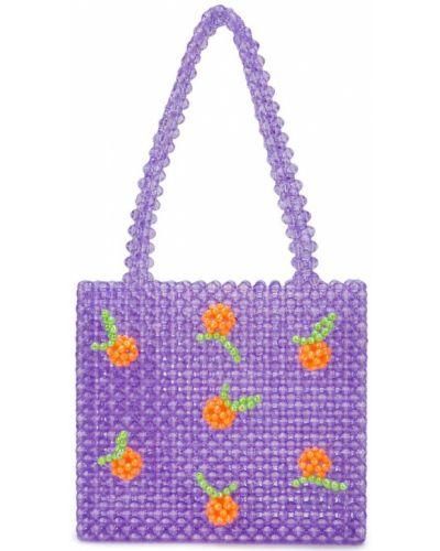 Фиолетовая сумка-тоут Susan Alexandra