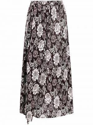 Шелковая юбка миди - черная Christian Wijnants
