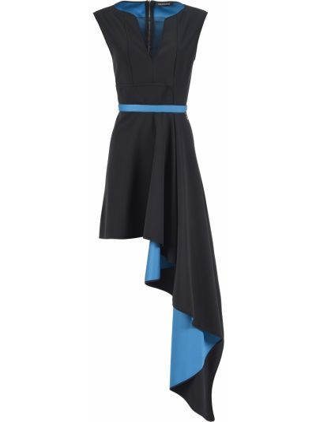Платье из полиэстера - черное Mangano