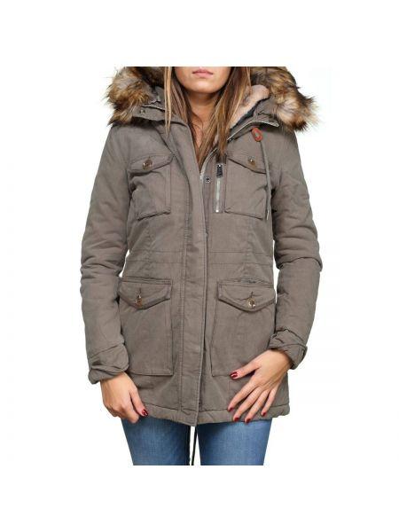 Пальто с капюшоном до колен Schott