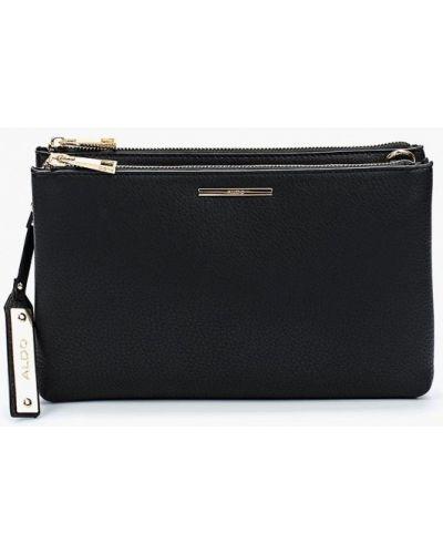 Черная кожаный сумка Aldo