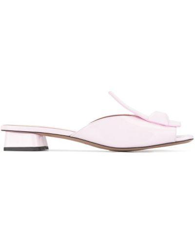 Розовые мюли на каблуке Rayne
