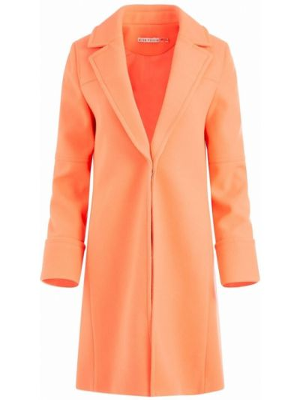 Длинное пальто - оранжевое Alice+olivia