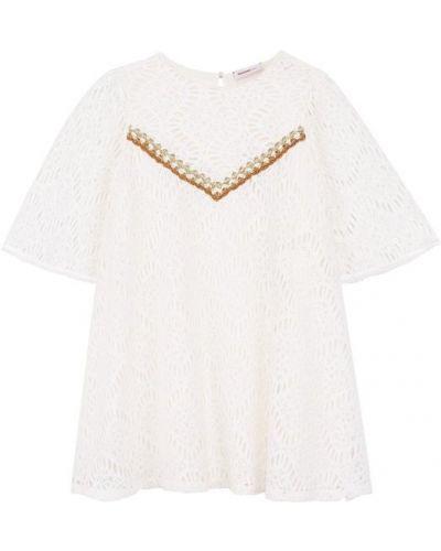 Платье мини на пуговицах свободного кроя Missoni