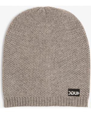 Ciepła szara z kaszmiru czapka Hugo