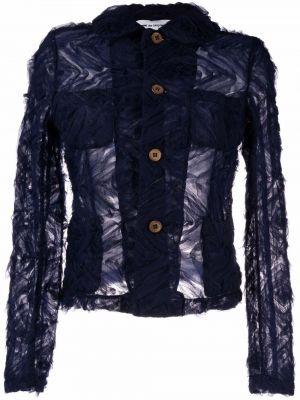 Синий классический пиджак с воротником на пуговицах Comme Des Garçons Girl