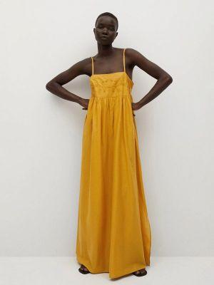 Желтое сарафан Mango