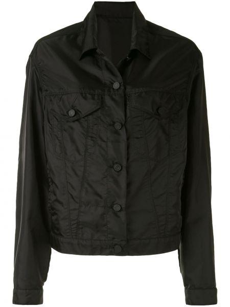 Черная куртка с воротником на пуговицах Rta