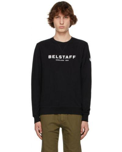 Czarna bluza długa z długimi rękawami Belstaff