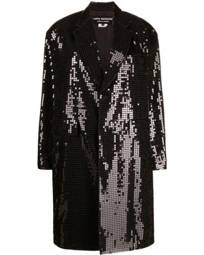 Черное длинное пальто с карманами с лацканами Junya Watanabe