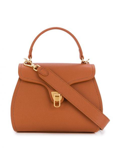 Коричневая сумка-тоут из верблюжьей шерсти Coccinelle