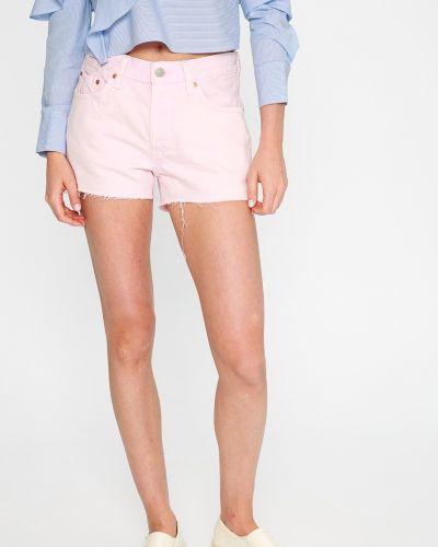 Джинсовые шорты розовый с карманами Levi's®