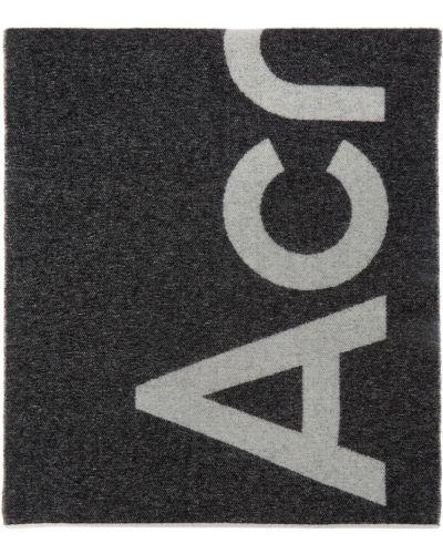 Черный шерстяной шарф Acne Studios