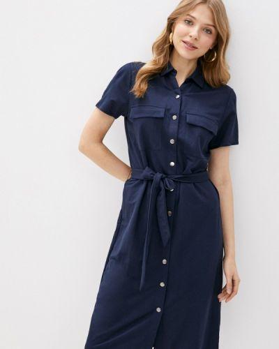Синее платье-рубашка Vila