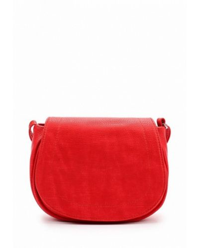 Красная сумка через плечо медведково