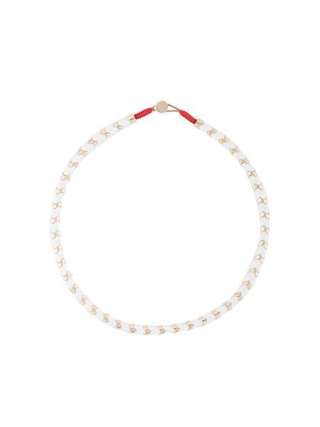 Biały złoty naszyjnik pozłacany Roxanne Assoulin