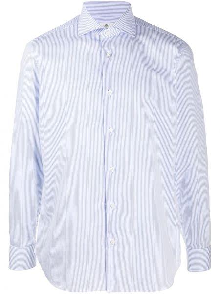 Белая рубашка с воротником с нашивками с манжетами Borrelli