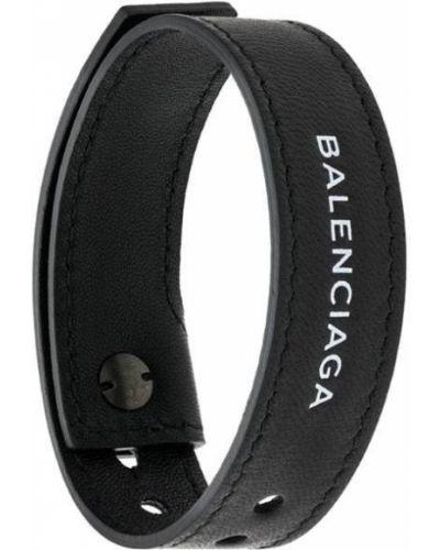 Браслет кожаный черный Balenciaga