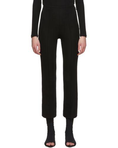 Брючные черные расклешенные укороченные брюки с поясом Rudi Gernreich