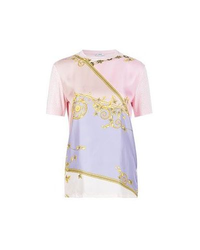 Туника из вискозы - розовая Versace Collection