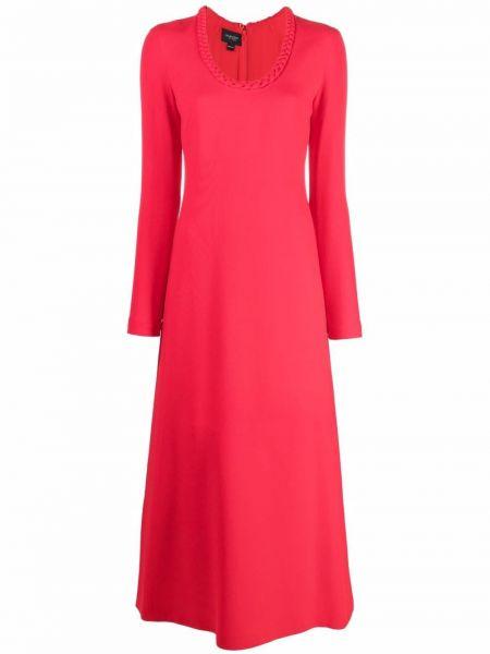Платье макси с длинными рукавами - красное Giambattista Valli