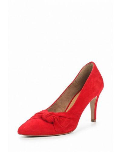 Туфли-лодочки на каблуке замшевые Tamaris