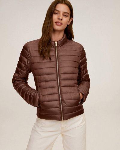 Коричневая теплая утепленная куртка Mango