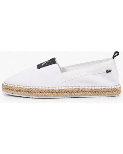 Джинсовые белые эспадрильи Calvin Klein Jeans