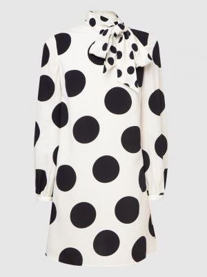 Бежевое шелковое платье мини Valentino