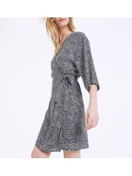 Платье мини с запахом с V-образным вырезом La Redoute