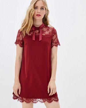 Платье бордовый прямое With&out