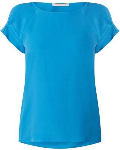Bluzka z jedwabiu turkusowa Pennyblack