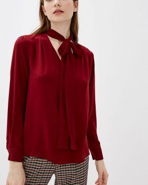 Блузка с бантом бордовый Adl