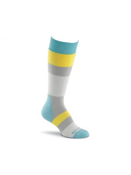Серые шерстяные спортивные носки высокие эластичные Foxriver