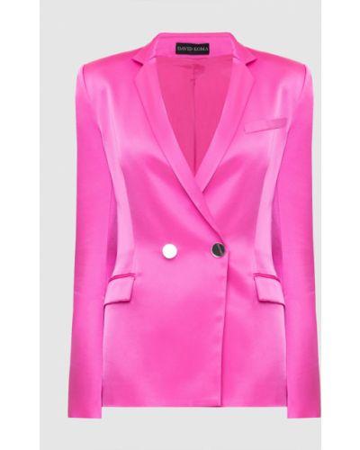 Розовый пиджак David Koma