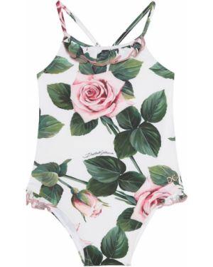 Strój kąpielowy z nadrukiem z kwiatowym nadrukiem Dolce & Gabbana Kids