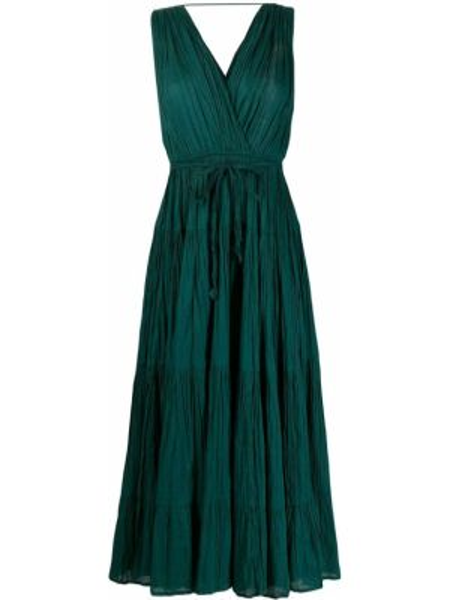 Платье с V-образным вырезом зеленый Mes Demoiselles