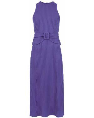 Платье миди с поясом без рукавов Framed