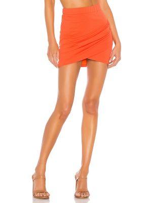 Spódnica bawełniana - pomarańczowa Lovers + Friends