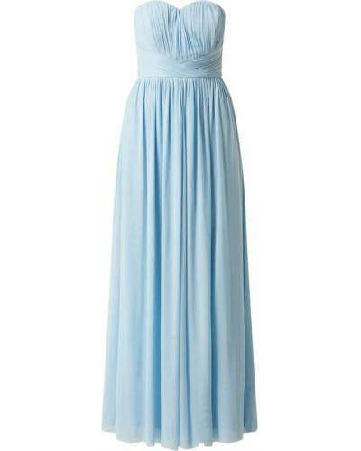 Niebieska sukienka rozkloszowana tiulowa Lipsy
