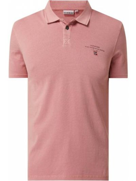 Różowy t-shirt bawełniany Napapijri