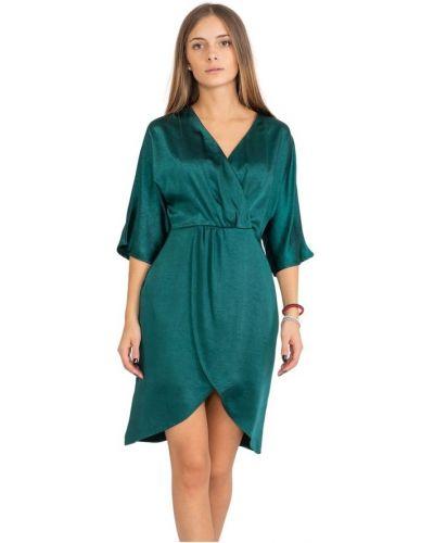 Zielona sukienka kopertowa na co dzień Suncoo