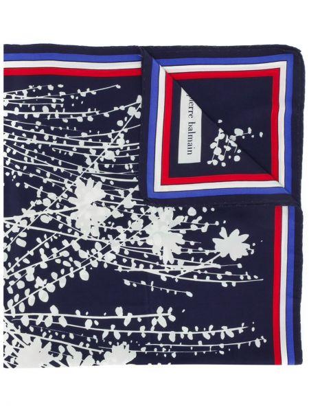 Синий шарф Balmain Pre-owned