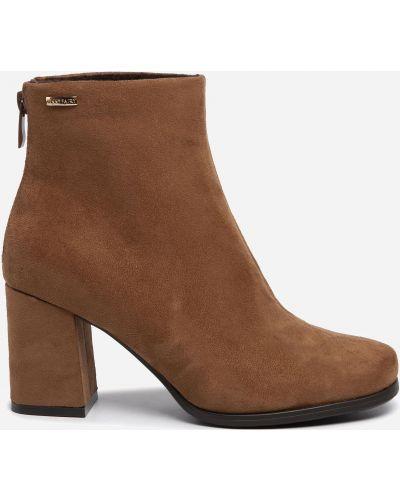 Ботильоны на каблуке - коричневые Jenny Fairy